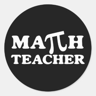 Profesor de matemáticas pi pegatina redonda