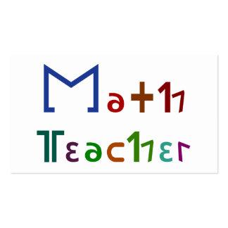 Profesor de matemáticas tarjetas de visita