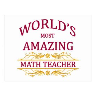 Profesor de matemáticas tarjeta postal