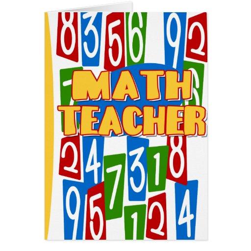 Profesor de matemáticas tarjetón