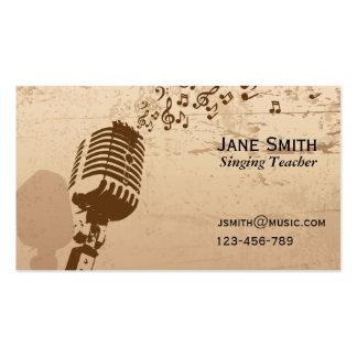 Profesor de música cantante y vocal del coche tarjetas de visita