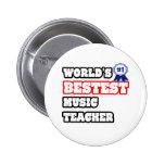 Profesor de música de Bestest del mundo Pin