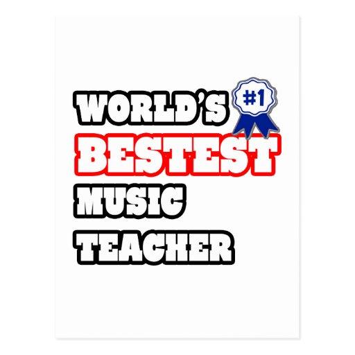 Profesor de música de Bestest del mundo Postal
