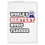 Profesor de música de Bestest del mundo Felicitacion