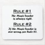 Profesor de música de la regla tapetes de ratón