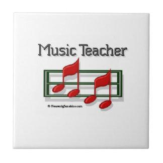 Profesor de música de las notas azulejo