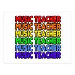 Profesor de música del arco iris tarjetas postales