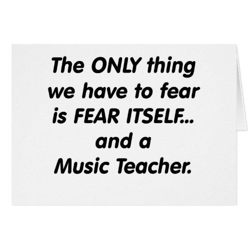 Profesor de música del miedo felicitaciones