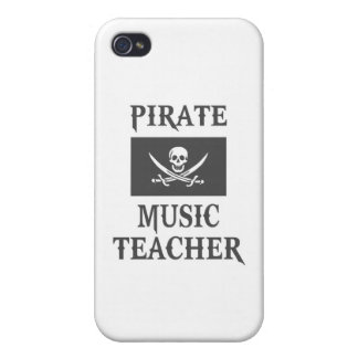 Profesor de música del pirata iPhone 4/4S carcasas