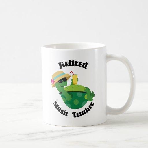 Profesor de música jubilado (tortuga) taza de café