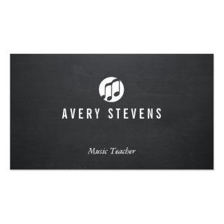 Profesor de música, notas de la música, músico tarjetas de visita