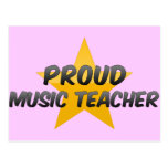 Profesor de música orgulloso tarjetas postales