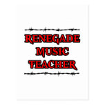 Profesor de música renegado postales