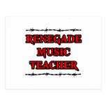 Profesor de música renegado tarjeta postal