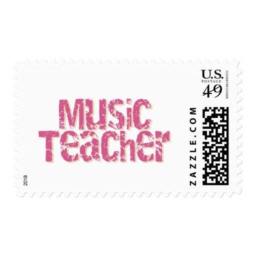 Profesor de música rosado del texto de la desolaci