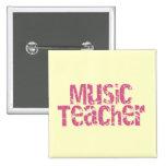 Profesor de música rosado del texto de la desolaci pin