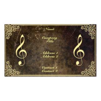 Profesor de música - tarjeta de visita