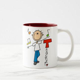 Profesor de música taza de dos tonos