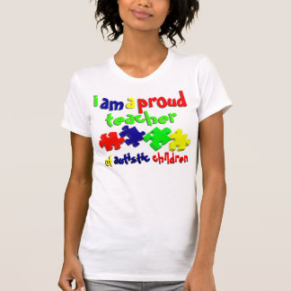 Profesor de niños autísticos tee shirt