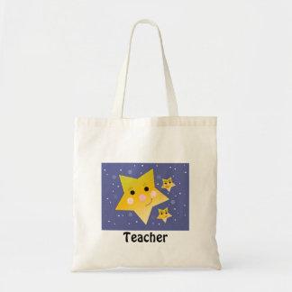Profesor de oro de las estrellas bolsa tela barata
