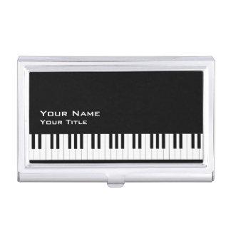 Profesor de piano 2 caja de tarjetas de negocios