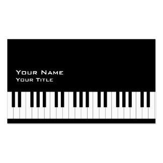 Profesor de piano 2 tarjetas de visita