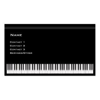 Profesor de piano tarjetas de visita