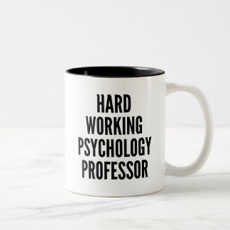 Profesor de trabajo duro de la psicología tazas