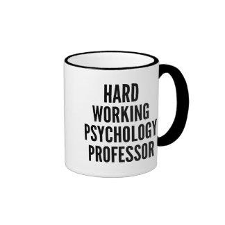 Profesor de trabajo duro de la psicología taza de café