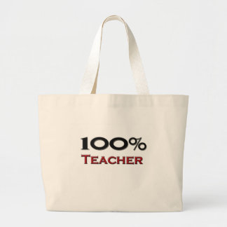 Profesor del 100 por ciento bolsa tela grande