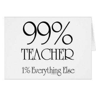 Profesor del 99% tarjeta de felicitación