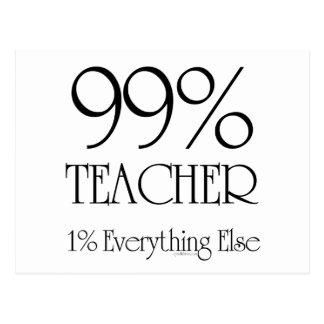 Profesor del 99% tarjeta postal