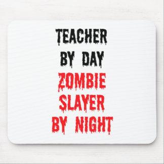 Profesor del asesino del zombi del día por noche alfombrilla de raton