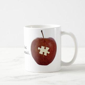 Profesor del autismo taza de café