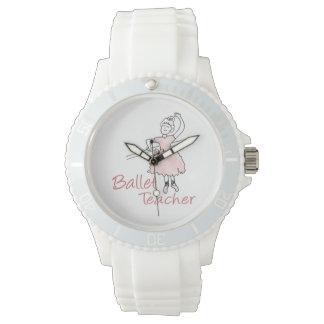 Profesor del ballet reloj de mano