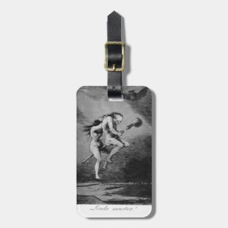 Profesor del bonito de Francisco Goya- Etiqueta De Maleta