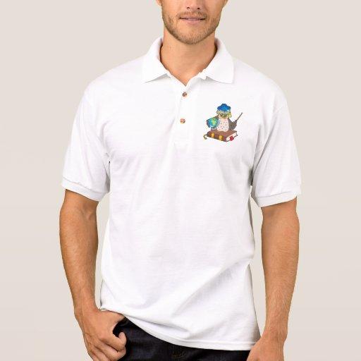 Profesor del búho con el globo camisetas
