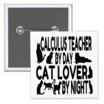 Profesor del cálculo del amante del gato pin