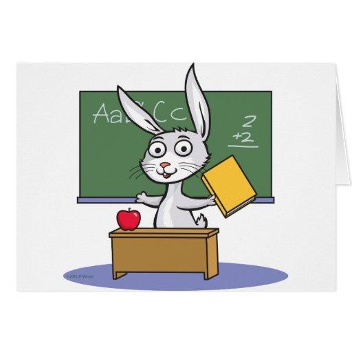 Profesor del conejo de conejito felicitaciones