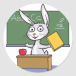 Profesor del conejo de conejito pegatinas