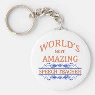 Profesor del discurso llavero personalizado