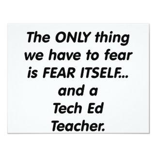 profesor del ed de la tecnología del miedo invitacion personal