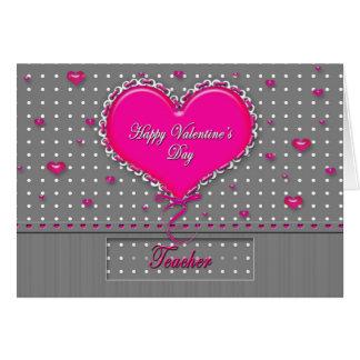 Profesor del el día de San Valentín - Tarjeta De Felicitación