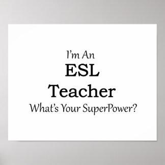 Profesor del ESL Póster