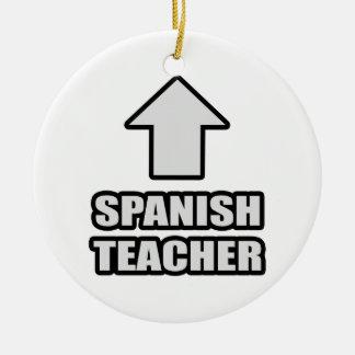 Profesor del español de la flecha ornato