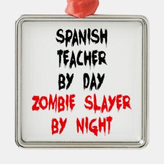 Profesor del español del asesino del zombi adornos de navidad