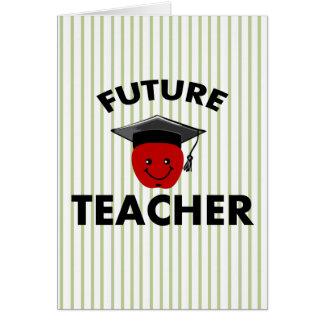Profesor del futuro de la graduación tarjeta de felicitación