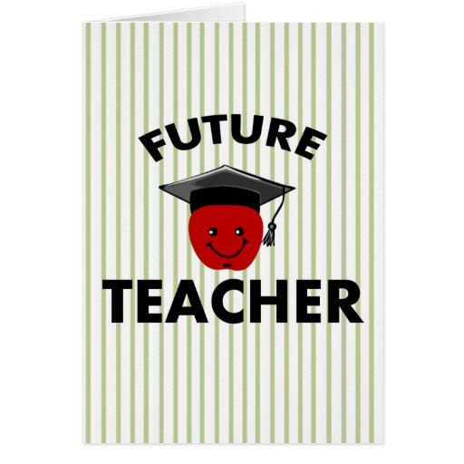Profesor del futuro de la graduación tarjetas
