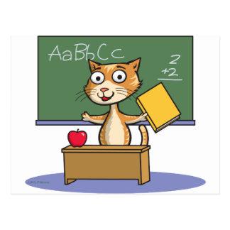 Profesor del gato tarjetas postales