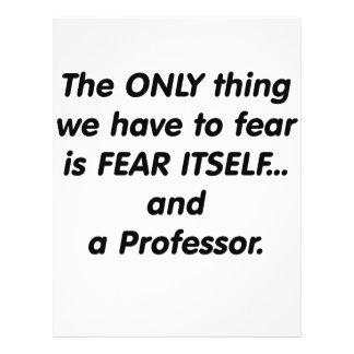 Profesor del miedo tarjetón